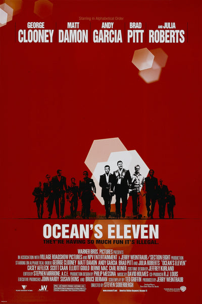 An original movie poster for the film Ocean's Eleven / 11