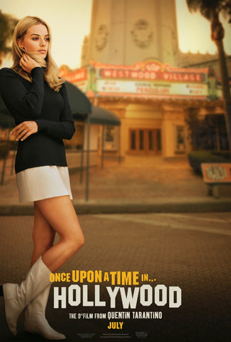 The Teaser Movie Poster for the Quentin Tarantino film, Once Upon A Time In Hollywood