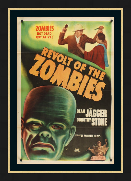 An original movie poster for Revolt of the Zombies
