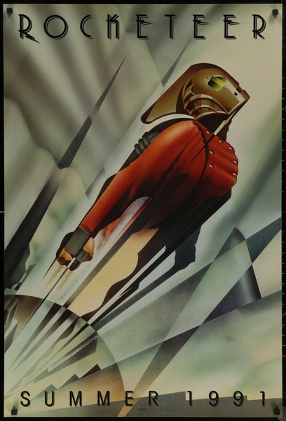 An original movie poster for the film Rocketeet