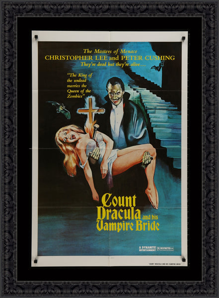 An original movie poster for The Satanic Rites of Dracula