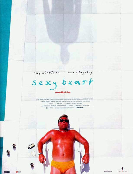An original movie poster for the film Sexy Beast