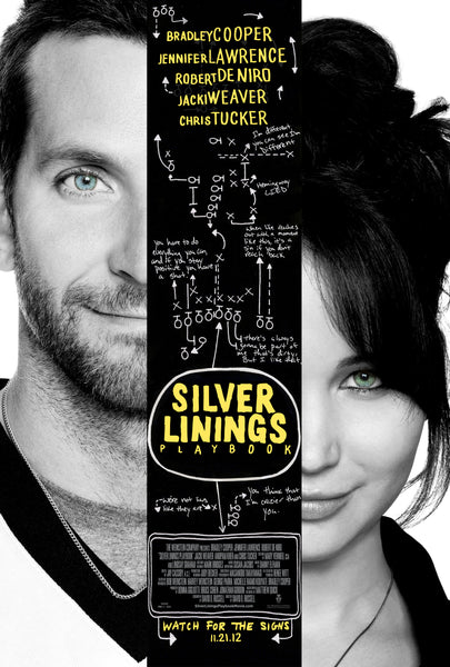 An original movie poster for the film Silver Linings Playbook