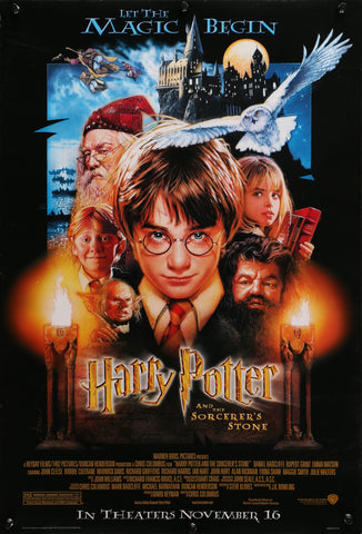 An original movie poster for the film Harry Potter and the Philosopher's / Sorcerer's Stone
