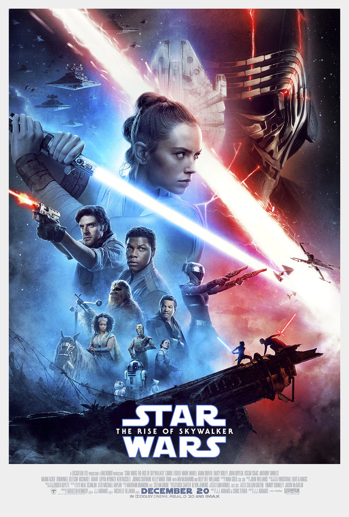 An original movie poster for the Star Wars film The Rise of Skywalker