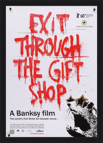 An original movie poster from the Banksy film Exit Through The Gift Shop