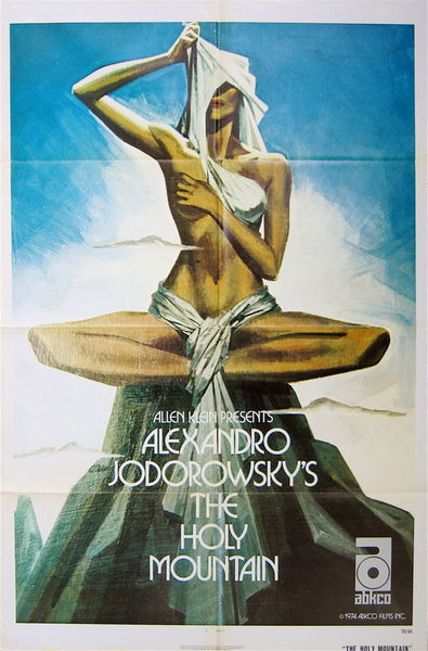 An original movie poster for the film The Holy Mountain