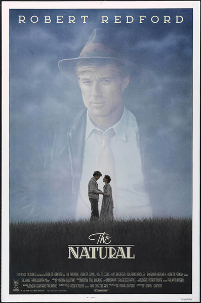 An original movie poster for the film The Natural