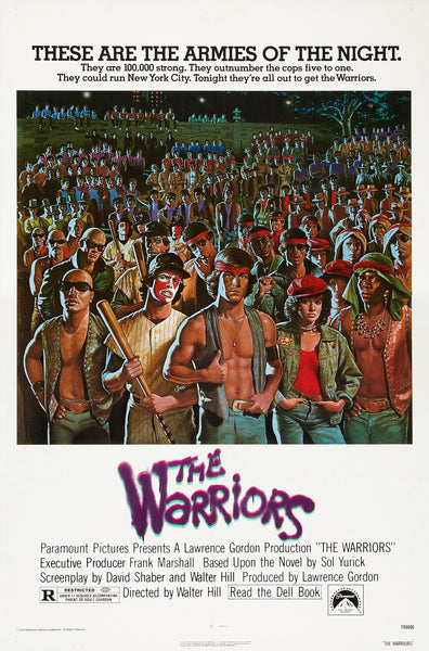 An original movie poster for the film The Warriors
