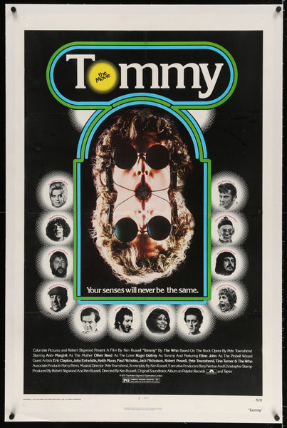 An original movie poster for the film Tommy