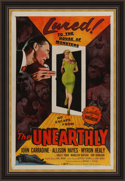 An original movie poster for The Unearthly