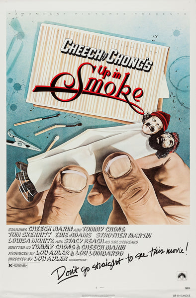 An original movie poster for the film Up In Smoke