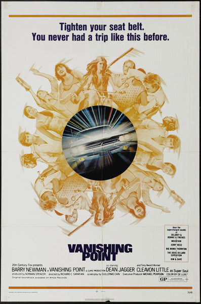 An original movie poster for the film Vanishing Point