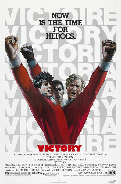 An original movie poster for the film Escape To Victory