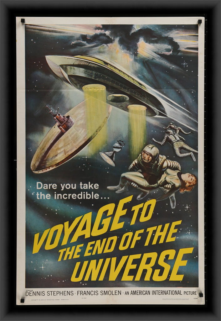 An original movie poster for the film Voyage to the End of the Universe