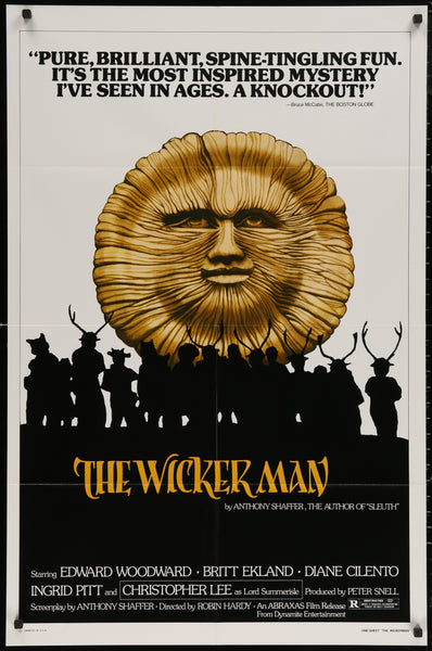 An original movie poster for the film The Wicker Man