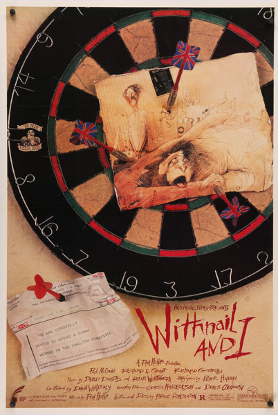An original movie poster for the film Withnail and I