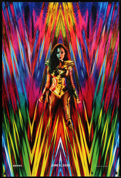 An original movie poster for the film Wonder Woman 1984