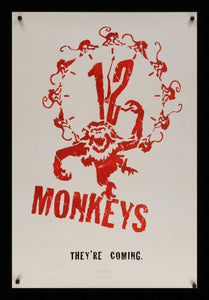 An original movie poster for the film 12 Monkeys