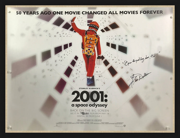 An original movie poster for the film 2001 A Space Odyssey