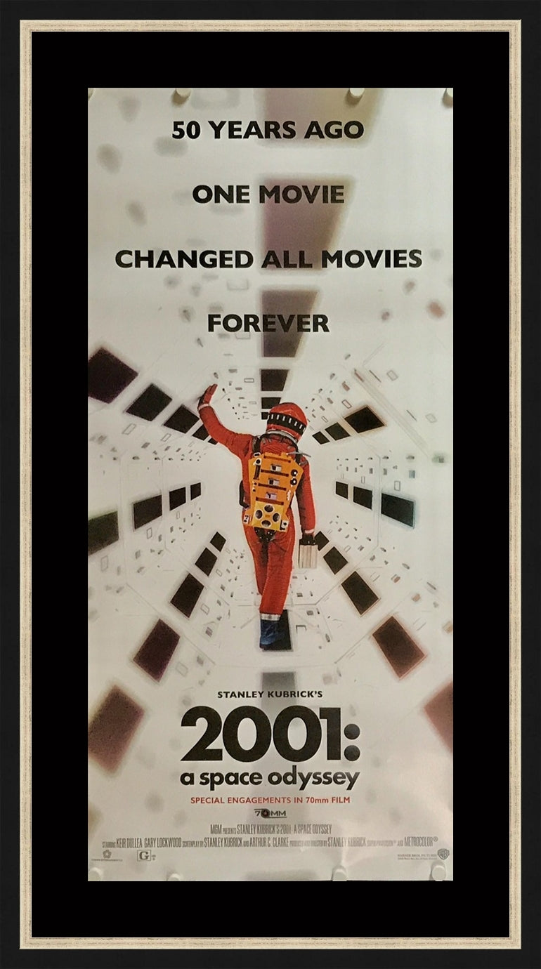 An original movie poster for the Kubrick film 2001 A Space Odyssey