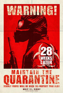 An original movie poster for the zombie horror film 28 Weeks Later