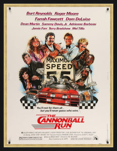 An original movie poster for The Cannonball Run
