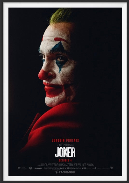 An original Style D movie poster for the film Joker