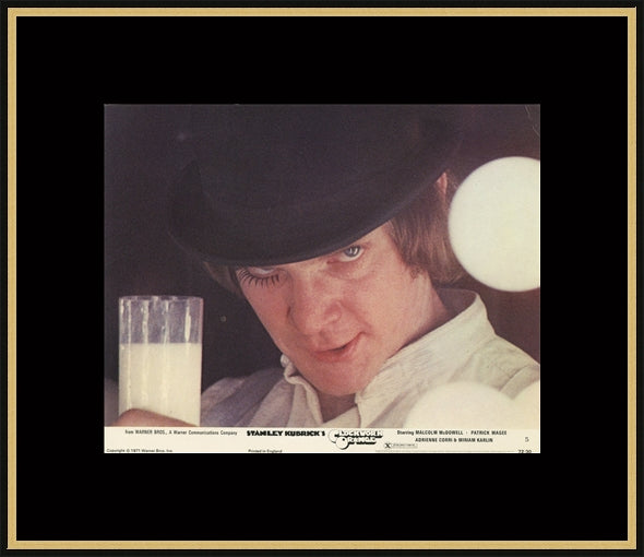 An original lobby card for Stanley Kubrick's A Clockwork Orange