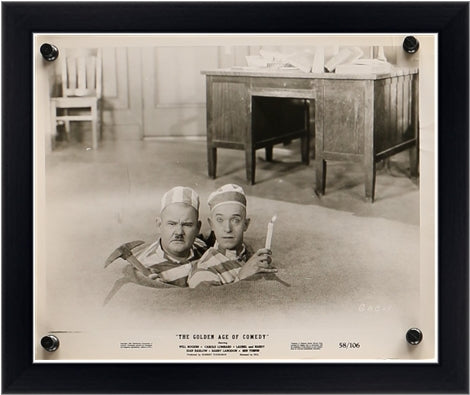 An original movie still for The Golden Age of Comedy with Laurel and Hardy