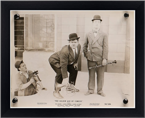 An original theatrical still of Laurel and Hardy