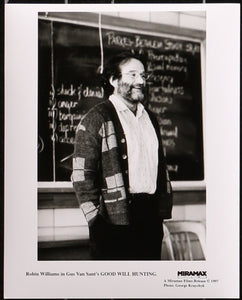 "An original theatrical still of Robin Williams from ""Good Will Hunting"""