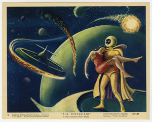 An original movie lobby card for 1959 film The Mysterians