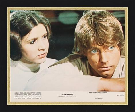 An original 8 x 10 lobby card for the Star Wars film A New Hope