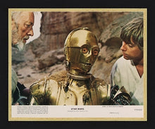 "Load image into Gallery viewer, A guaranteed original '8 x 10' lobby card from 1977 for ""Star Wars"", now known as ""Star Wars: Episode IV - A New Hope""."
