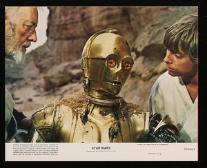"A guaranteed original '8 x 10' lobby card from 1977 for ""Star Wars"", now known as ""Star Wars: Episode IV - A New Hope""."
