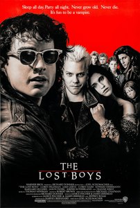 An original movie poster for the film The Lost Boys