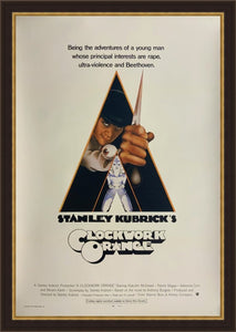 An original movie poster for the Stanley Kubrick film A Clockwork Orange