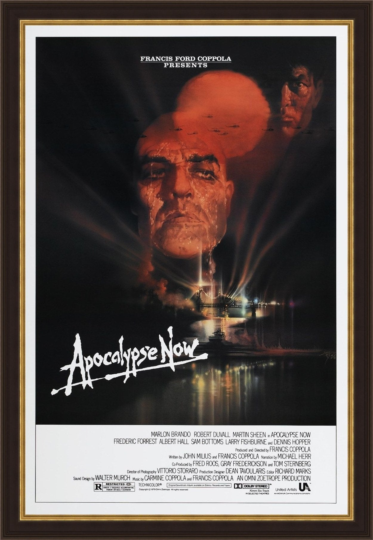 An original movie poster for the film Apocalypse Now