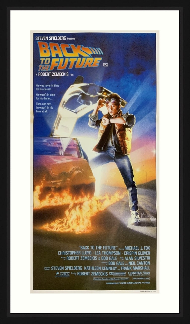 An original movie poster for the film Back to he Future