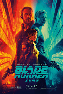 An original one sheet movie poster for the film Blade Runner 2049 (Bladerunner)