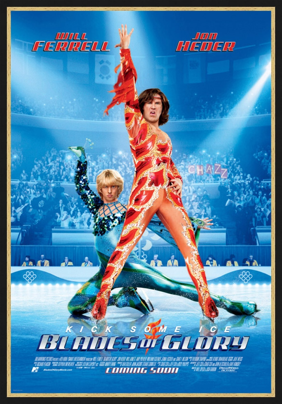An original movie poster for the film Blades of Glory