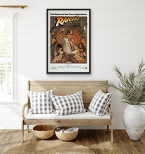 Load image into Gallery viewer, An original movie poster by Richard Amsel for the film Raiders of the Lost Ark