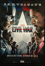 Load image into Gallery viewer, An original movie poster for Captain America : Civil War