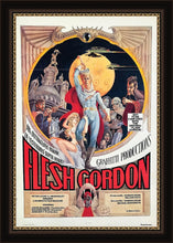 Load image into Gallery viewer, An original movie poster for 1974's camp sci-fi parody Flesh Gordon