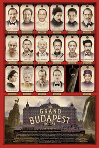 "An original movie poster for the Wes Anderson film ""The Grand Budapest Hotel"""