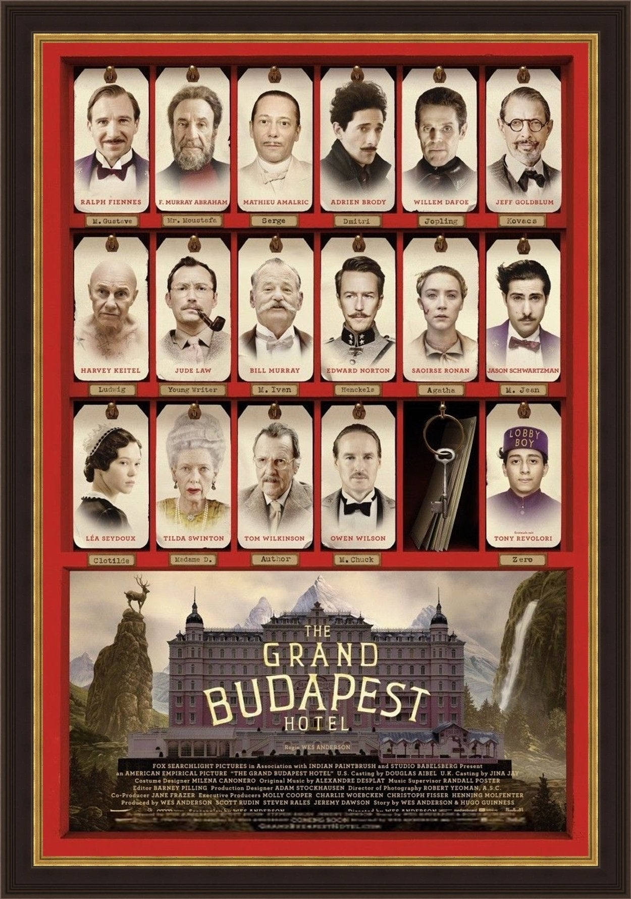 An original movie poster for the Wes Anderson film
