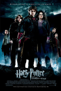 An original movie poster for the Wizarding World film Harry Potter and the Goblet of Fire