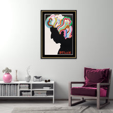 Load image into Gallery viewer, An original album insert poster from 1967 for Bob Dylan's Greatest Hits by Milton Glaser