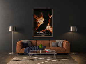 An original movie poster for the Batman film Batman Begins